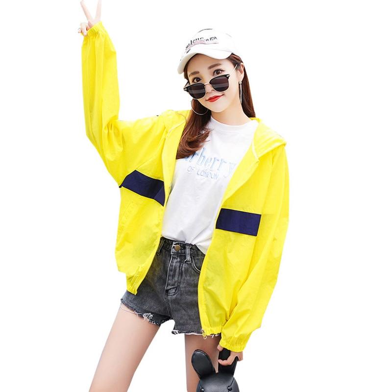 2018 Harajuku Hooded Jacket Coat Women Windbreaker Thin Basic Jackets Zipper Pockets Coat Plus Size Clothing casaco feminino