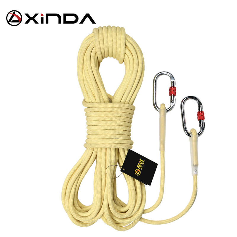 XINDA Escalada Paracord Rock Climbing Outdoor Hiking Safety Rope 6 8 10mm Diameter High Strength Fire Prevention Equipment