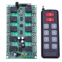DC 24V 10Channel Wireless Remote Control Switch LED Remote Lighting Controller RF 433 Mhz Remote Controls for Lighting/LED/Gates