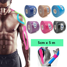 12 Color Athletic Sports Tape Muscle Bandage 5cmX 5m Roll Elastic Adhesive Strain Injury Muscle Sticker Sport Kinesiology Tape F kindmax hole kinesiology tape athletic tape 5cm 5m medical elastic sport muscle kinesio strain injury pain relif
