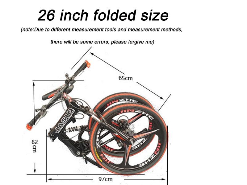 HTB1V2 LGeuSBuNjy1Xcq6AYjFXa0 26 inch mountain bike 21 speed Folding mountain bicycle double disc brake bike New folding mountain bike Suitable for adults