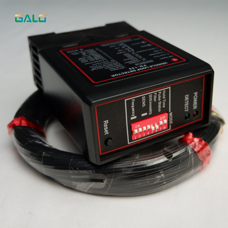 Barrier Gate Single Channel Loop Detector, Inductive Loop Safety Vehicle Detection Systems With 50m Loop Cable 0.75mm