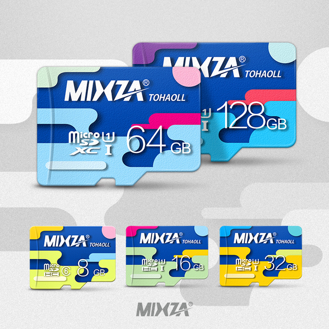 MIXZA Memory Card 128GB 64GB 32GB 16GB micro sd card Class10 UHS-1 8GB Class6 flash card Memory Microsd for Smartphone/Tablet