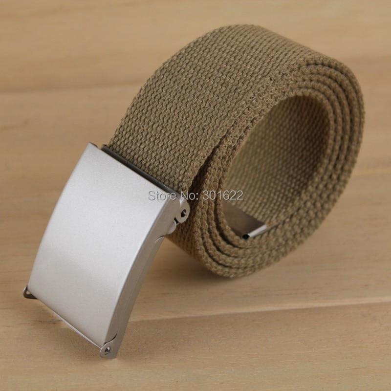 webbing Waist Belt Hot Sale Candy Color Mens Womens Unisex Plain Webbing Canvas Metal Buckle Belt  Personal Tailor