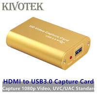 HDMI to USB3.0 HD Video Capture Card Dongle Adapter,HD1080P Female Connector UAC/UVC For Wii PSP34 XBOX PSP,Laptop Free Shipping