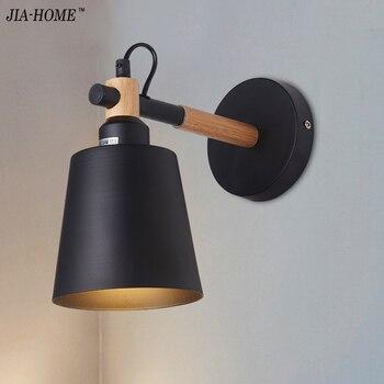 Simple creative wall light led bedroom bedside