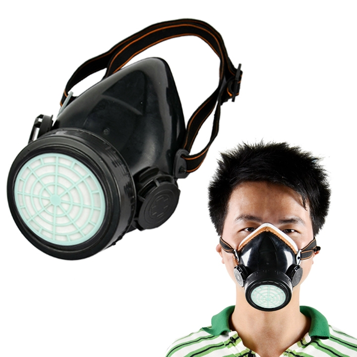 Free Shipping New Respirator Gas Mask Safety Anti-Dust Chemical Paint Spray Single Cartridge