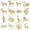 3d three-dimensional wooden animal jigsaw puzzle toys for children diy handmade wooden puzzle 3D puzzles Animals Insects and car