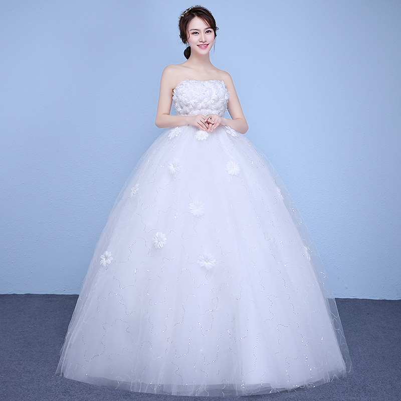 Real photo customized simple grils wedding dress 2017 new for Real simple wedding dresses