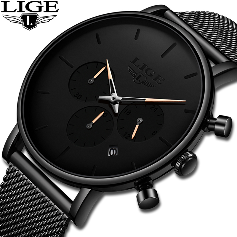 LIGE New Business Date Mens Watches Top Brand Luxury Waterproof Sport Watch Men Ultra Thin Dial Quartz Watch Casual Reloj HombreLIGE New Business Date Mens Watches Top Brand Luxury Waterproof Sport Watch Men Ultra Thin Dial Quartz Watch Casual Reloj Hombre