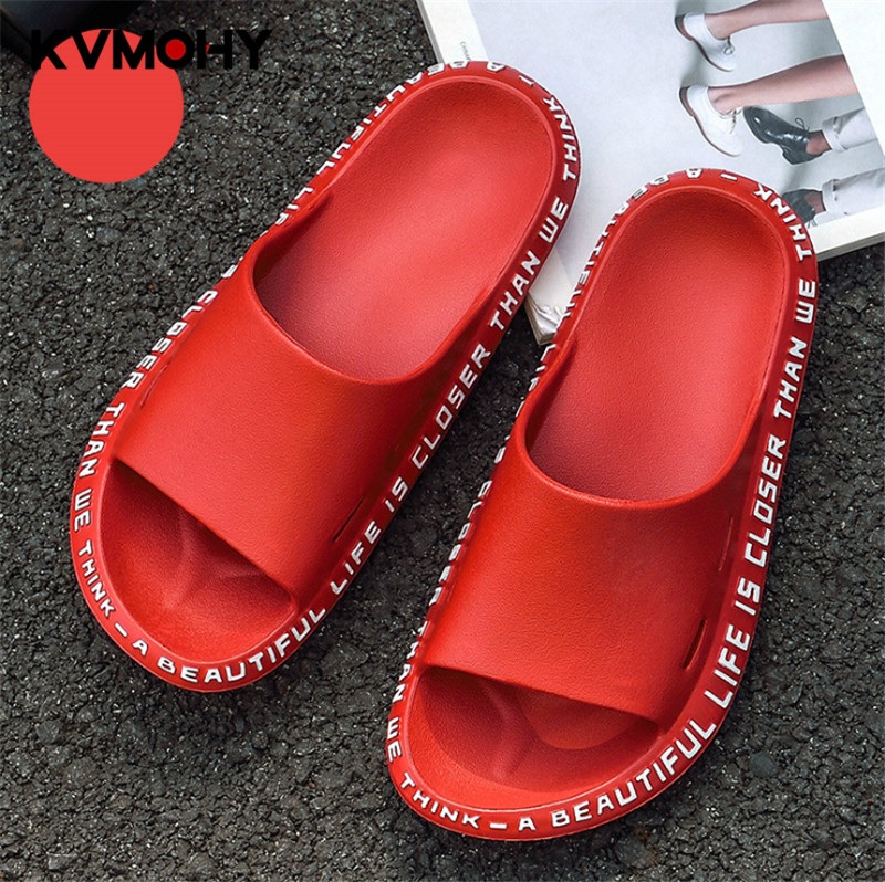 Woman Shoes Fashion Massage Flip Flops Summer Men Women High Quality EVA Non-slip Bathroom Slippers Beach Slides(China)