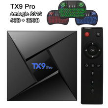RUIJIE 3GB 32GB Smart Tv Box TX9 Pro Amlogic S912 Android 7.1 OS Octa Core 2.4G 5.8G Dual WiFi Bluetooth 4.1 4K Media Player недорого
