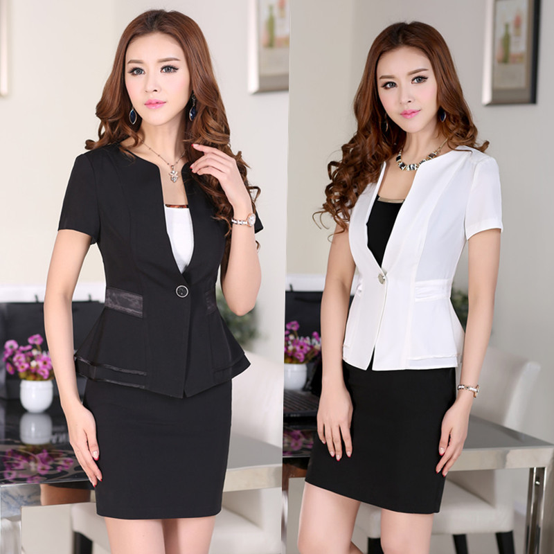 2014 Summer Formal Womens Business Suits Blazer Skirt Sets Ladies Office Uniform Style Work Wear Female - gool girl's store