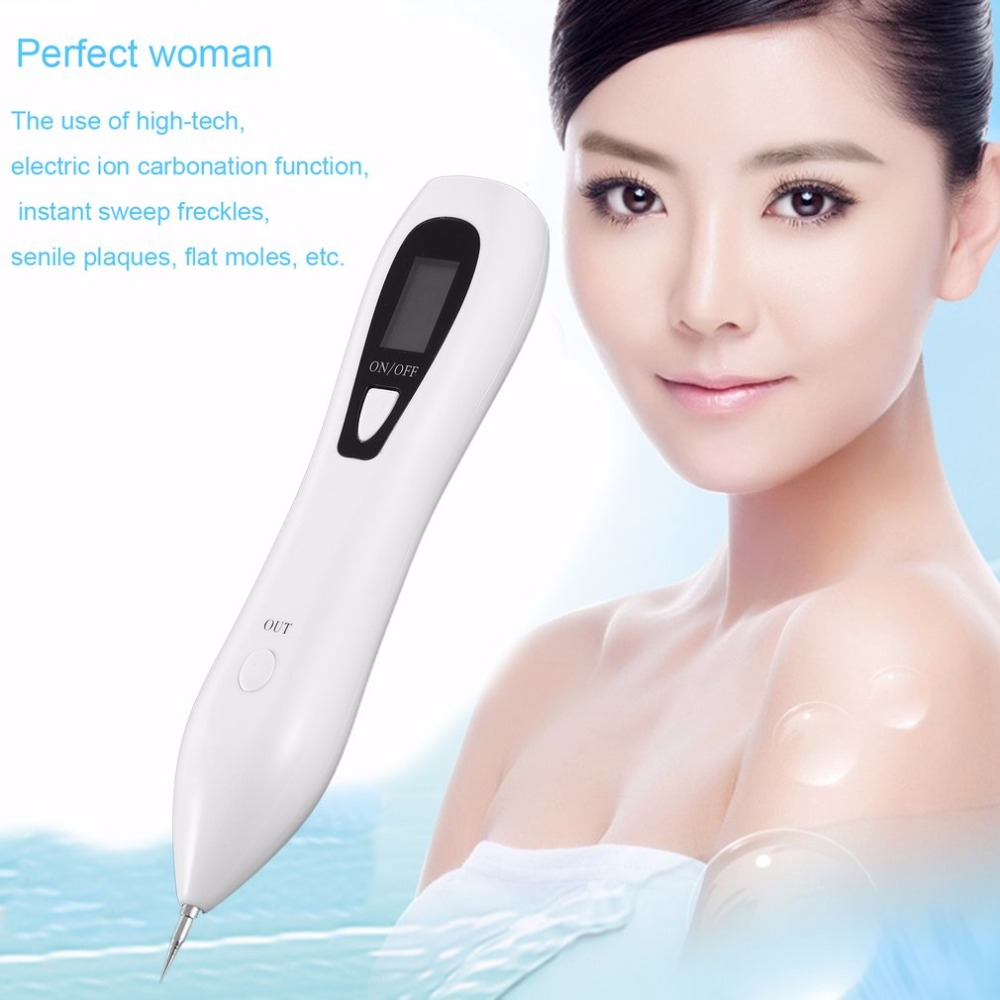 Portable USB Rechargeable Beauty Mole Removal Sweep Spot Pen Facial Skin Care Freckle Remover Beauty Pen Dropshipping Box Pack kj6021 lcd digital moisture monitor detector face skin care analyzer facial skin moisture tester pen portable beauty instrument