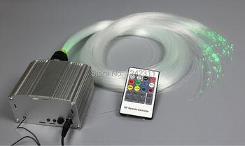 Para A Luz De Fibra óptica Decoração Twinkle Estrelas DIY Kit De Luz De Fibra óptica 20 W Levou Fonte De Luz Com 0.75mm X 5 M X 150 Pcs Fibras