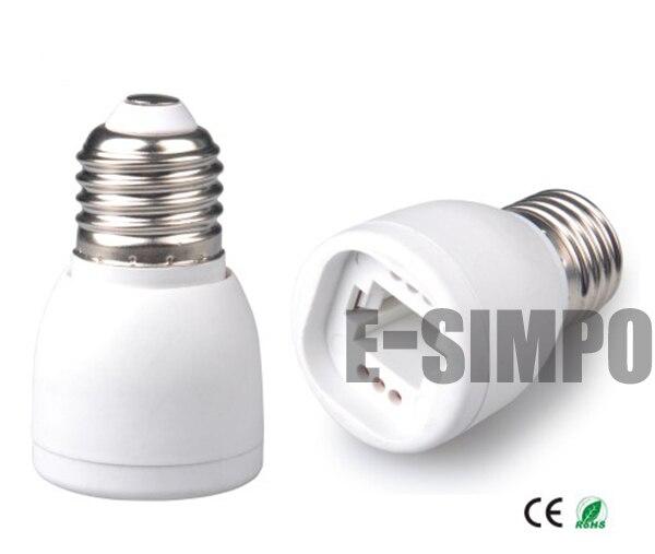 1pc E27/E26 To G23 G24 Lamp Base Light Socket Lamp Holder Converter Adapter 2/4P G24 G23 Fit GX23 Can Not Fit,NO Ballast Inside