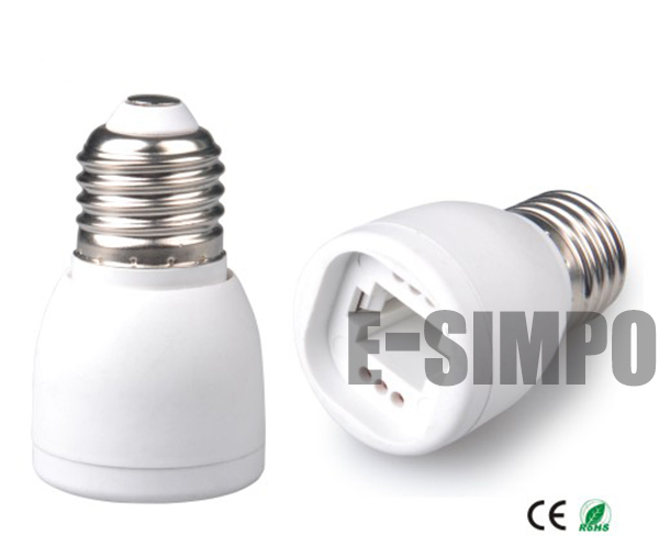 1pc E27/E26 ToG24 Adapter,2P 4P G24 G23 Both Fit, E27 To G23, Lamp Holder Converter,GX23 Can Not Fit