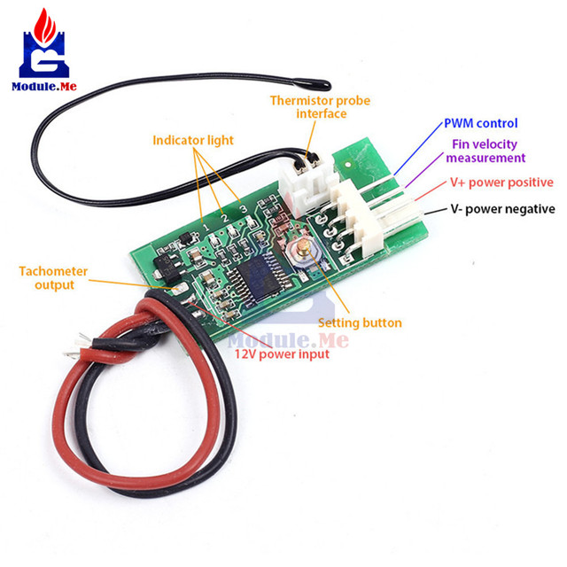 4 Wire Measurement Circuit Sony Xplod Mex Bt2900 Wiring Diagram Dc 12v Pwm Temperature Detector Probe Controller Fan Speed Governor For Pc Alarm Stk Ic