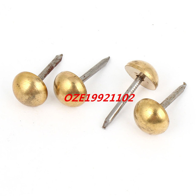 round top office message board pushpins thumb tacks gold tone in pin