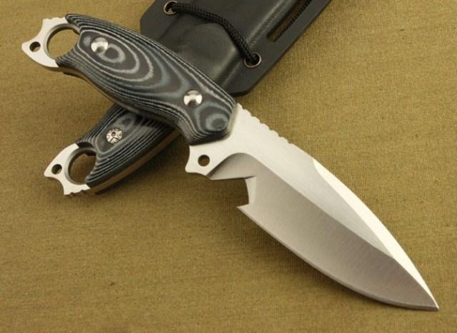 SDFKKU 2 Non slip Micarta Handle AUS 8A Blade Small Straight font b Knife b font