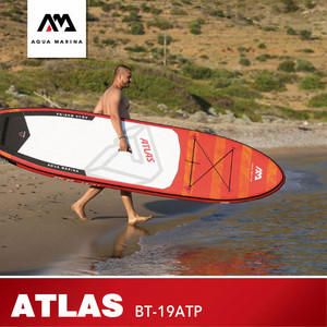 Image 1 - AQUA MARINA ATLAS Surfing Board New Surf Board SUP Surfboards Inflatable Surf Board Stand Up Paddleboard Surf Board 366*84*15cm
