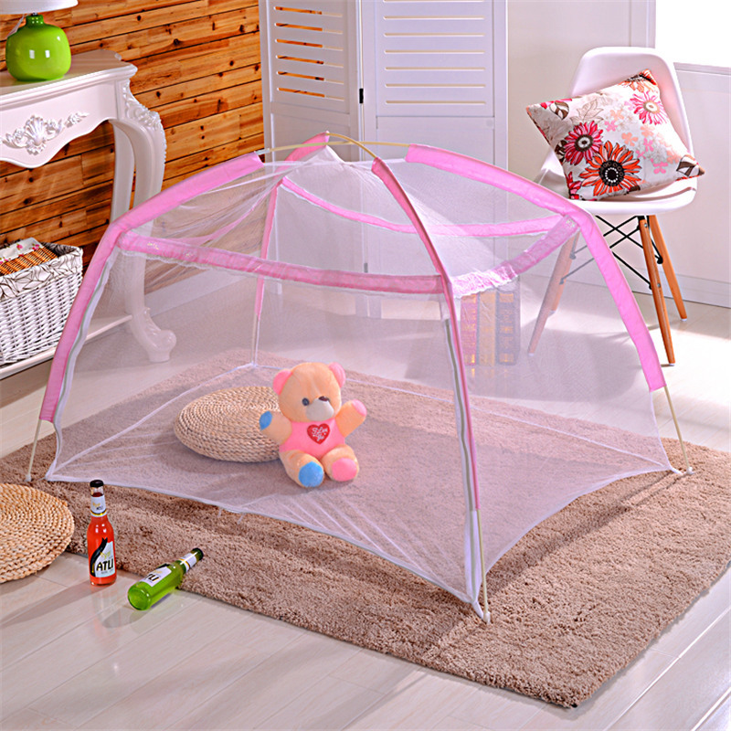 Newborn Baby Crib Mosquito Net Ger Type Baby Tent Mosquito Repellent Lace Foldable Free Mounting Newborn Crib Bed Net Protector