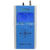 Handheld Portable Particle Counter PM2.5 PM10 Unit Microgram Cubic Meter Gas Monitor Tester Meter