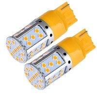 2pcs Car Light T20 7440 3156 W21W 3030 35SMD Canbus LED Fog Lamp Brake Light Tail