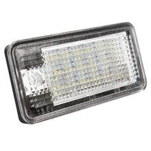 1 пара 5 Вт автомобиля свет номерной знак авто Номерные знаки для мотоциклов лампа для Audi A3 A4 A6 A8 Q7 RS4 RS6 автомобиль-Стайлинг 18 светодиодные лампы 6500 К