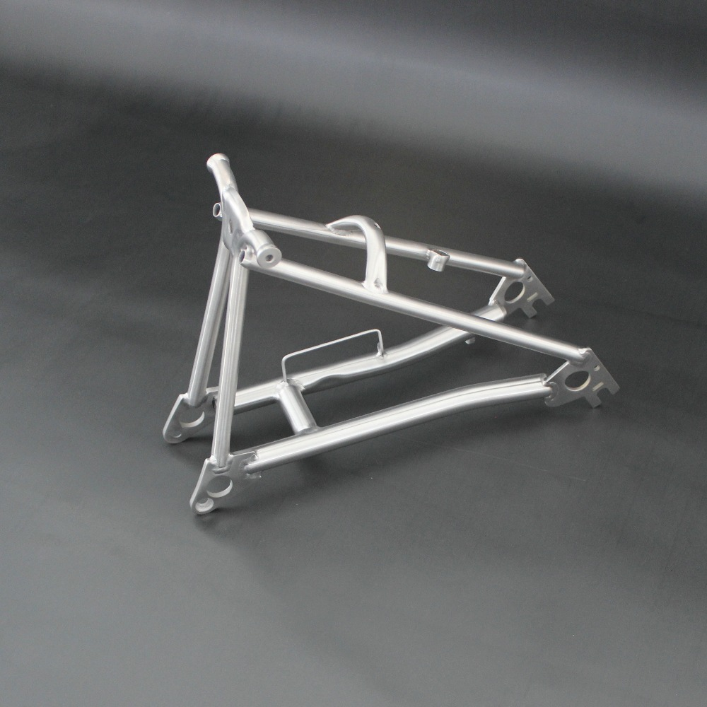 Bike fork titanium rear triangle for brompton light weight and best quality titanium triangle fork for folding bike brompton sema titanium alloy brompton seat post diameter 31 8mm cnc seatpost for brompton folding bike 31 8mm 580mm super light