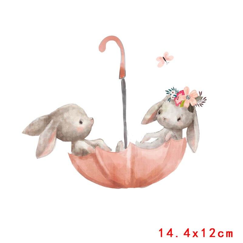Prajna милый кролик патч теплопередача Винил утюг на передачу для одежды мультфильм значок глажка наклейки аппликация уровень - Цвет: Антикварная медь