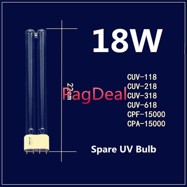 18 w Lâmpada UV Lâmpada de Substituição Parte de Reposição para SunSun CUV 118