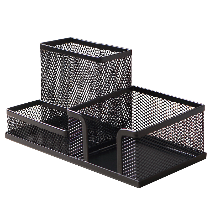 Steel Mesh Desk Organizer Set Desktop Supply Caddy And Pen