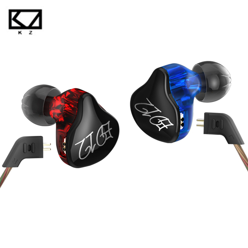 Original KZ ED12 In Ear Earphone Stereo Running Sport Earphone Noise Cancelling HIFI Bass Monitor Earphone Headset auriculares kz ates ate atr hd9 copper driver hifi sport headphones in ear earphone for running with microphone game headset