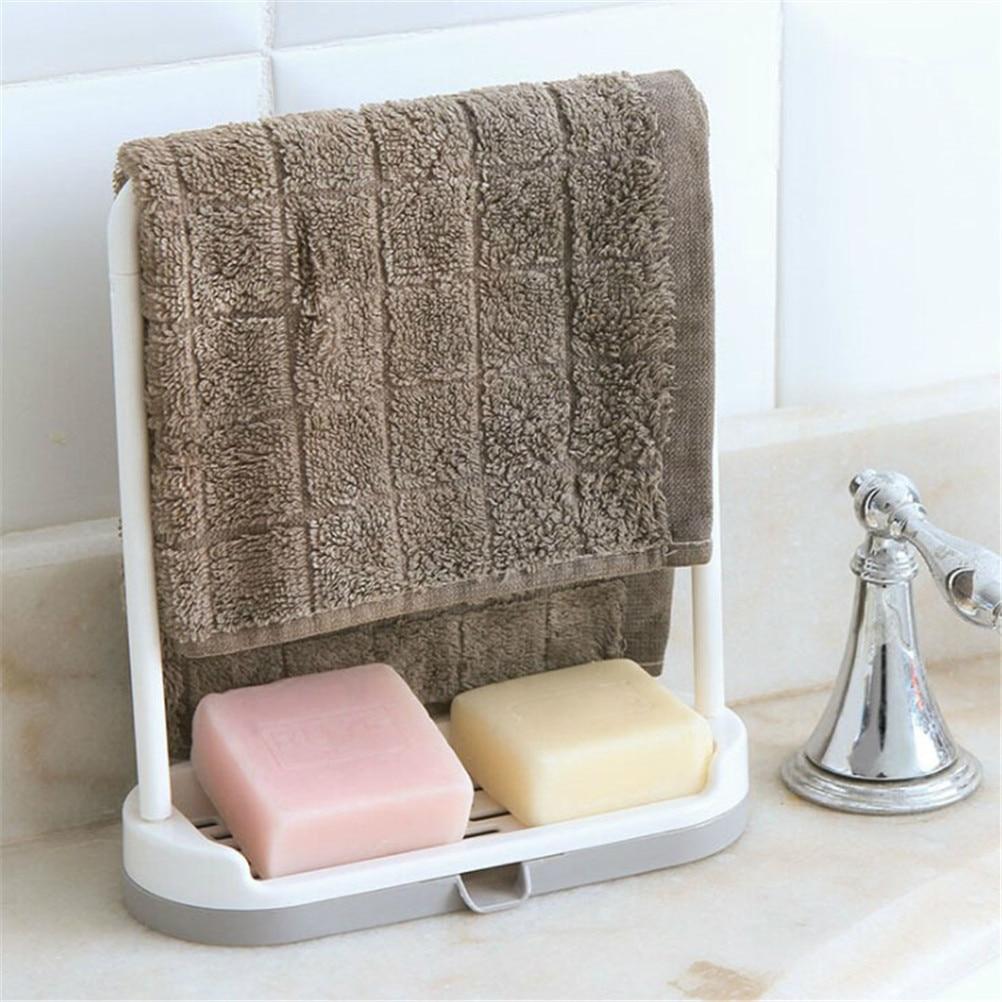 US $2.25 18% OFF|Saingace sponge holder for kitchen sink organizer towel  rack stand hanger Portable Hanging Drain Bag Basket Bath Storage-in Storage  ...