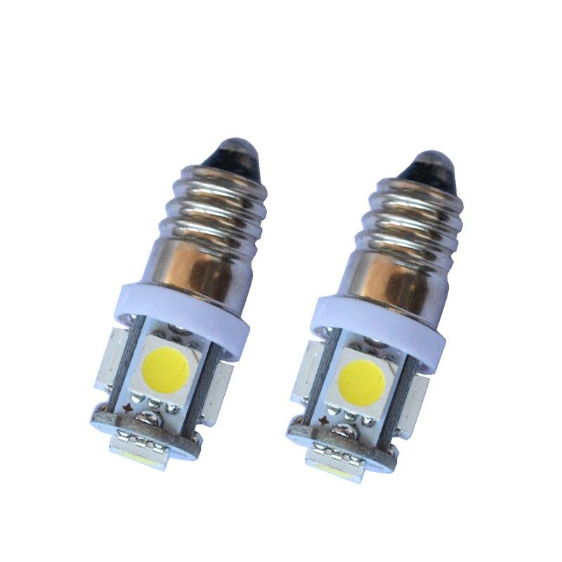 100pcs-Super-bright-E10-Non-polar-5-SMD--3-Chips-LED-Screw-Bulb-Light-Lamp