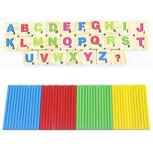 Детей Деревянные Номера Придерживайтесь Математика Раннее Обучение Подсчет Образовательные Математика Игрушки для Детей Дети Подарок