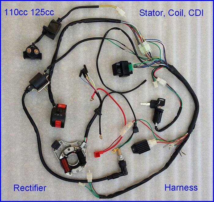 110cc Atv Cdi Wiring Diagram Full Electrics Harness - Electrical ...