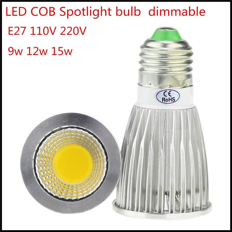 Lights & Lighting High Quality Gu10 Cob Led Bulb Lamp 6w 9w 12w Led Lamp Light Gu10 Dimmable Gu 10 Led Spotlight Warm/cold White Free Shipping