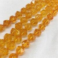AAA 6-10 MÉT 1 Strand/Gói 100% Tinh Thể Tự Nhiên Vàng Thạch Anh Strands Bán quý Đá Bead trang sức Hạt Loose