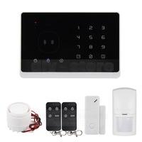 DIYSECUR Qualité GSM RFID Système D'alarme avec Écran Tactile et SMS APP contrôle Meilleur Système D'alarme Maison Intelligente