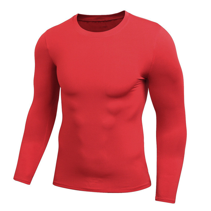 Autumn Spring Fitness Tshirt Jersey Long Sleeve Thermal Underwear Compression Tees Crossfit Tops Shapers Undershirts 7 colors
