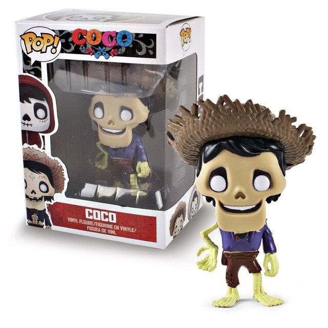 Funko pop Movie Coco Pixar Miguel Action Figure Toys Collectors Miguel/Hector&De La Curs pvc Action Figure Model toy for kids 3