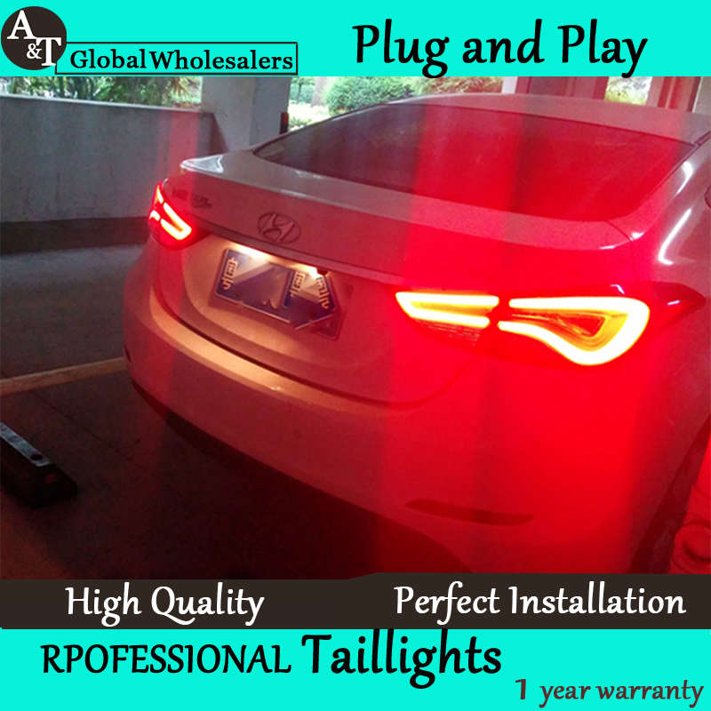 A T Car Styling for Hyundai Elantra Taillights Korea Design New Elantra MD Tail Lamp Rear
