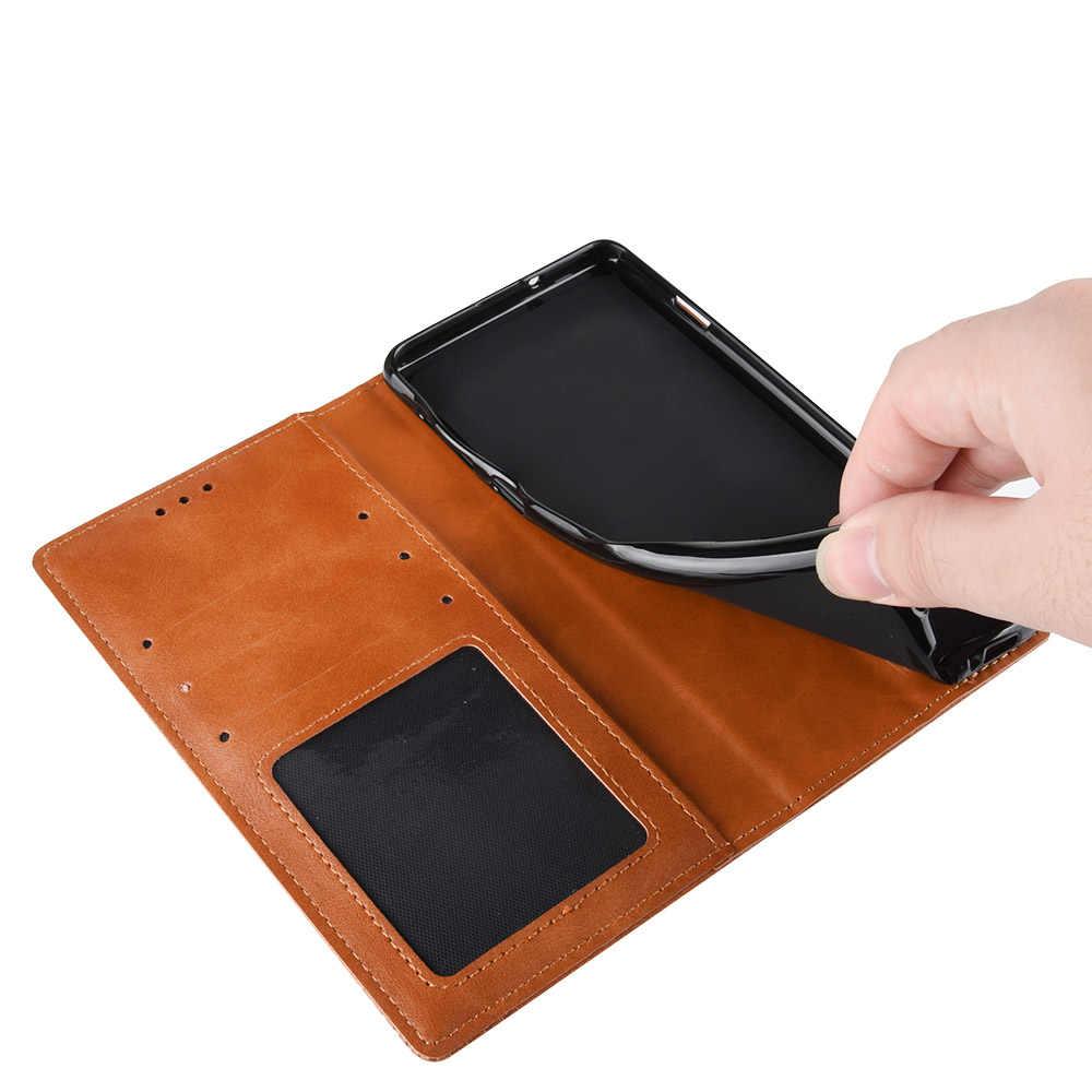 Funda de cuero tipo cartera con tapa para Motorola G7 G8 E6 E6s Plus Power Moto Z4 P40 P50 Play One Pro versión magnética con tarjetero
