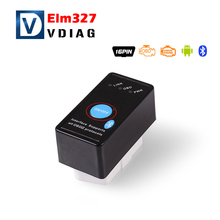 2016 Super Mini ELM327 Bluetooth ELM 327 OBD2 OBD ii CAN-BUS Diagnostic Car Scanner Tool + Switch ELM327 stable quality in stock