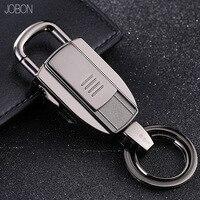 Brand Top Men Car Key Chain Women New USB Charging Intelligent Lighter Metal Keychain Key