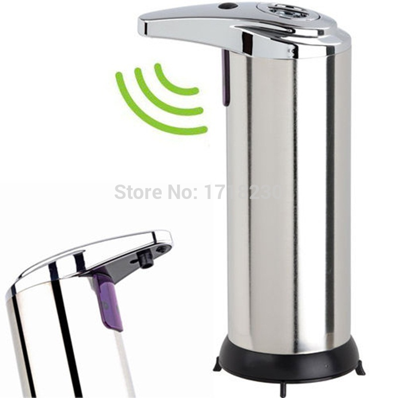 hands free motion activated ir sensor automatic touchless soap dispenser stainless steel hi - Touchless Soap Dispenser
