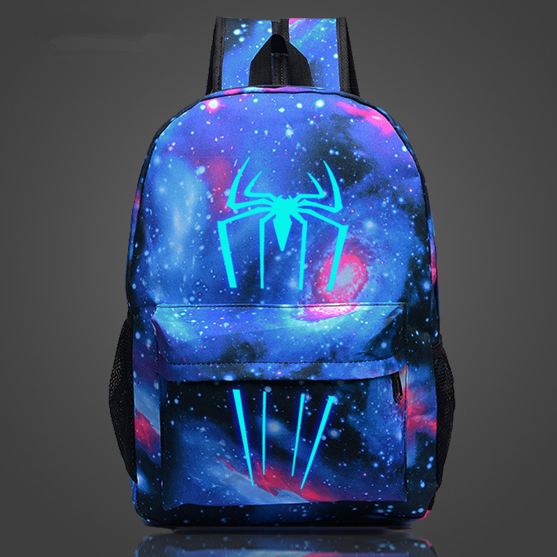 Comics Shield Spiderman Captain America Printing Middle School Bag For Teenagers Travel Bag Nylon Mochila Galaxia