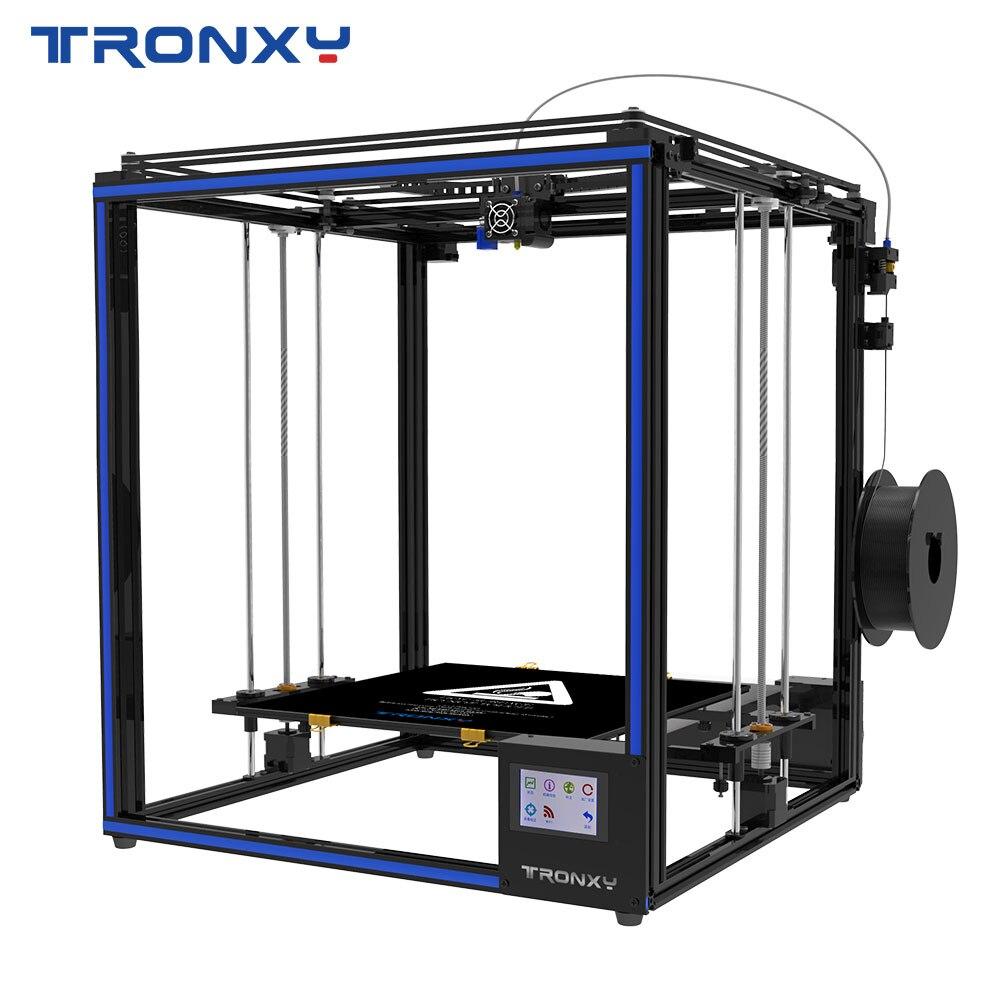FDM impressora Tronxy X5SA-400 3D DIY Kits de Auto nivelamento Tela Sensível Ao Toque de Calor de 400*400 milímetros